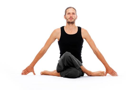 Yoga posture, easy to lose weightpic